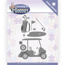 Yvonne Creations - Funky Hobbies - Cutting Dies GOLF Cart, Clubs, Green, Tee, Balls, More!