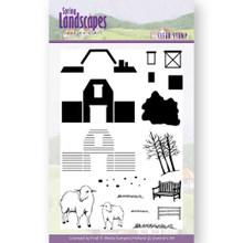 Jeannine's Art Clear stamps Spring Landscape Farm Set -- 17-stamp Set