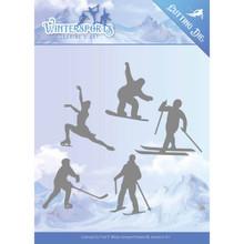 Jeanines Art Wintersports - Mountain Border - Winter Sporting Metal Die JAD10030