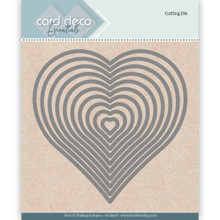 Card Deco - Find it Trading - Essentials Cutting Dies Heart Nested Set=10-Dies