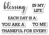 Memory Box Clear Stamp Set CL5214 Each Day is a Blessing