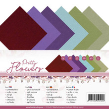 Find It Trading Precious Marieke Pretty Flowers A5 Linen Paper PM-A5-10027