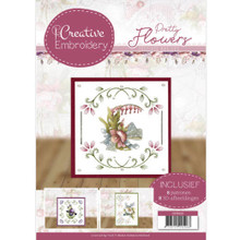 Find It Trading Creative Embroidery 20 - Precious Marieke - Pretty Flowers 8 Patterns with 8 3-D Scissor-Cut Images