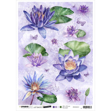 Studio Light Papercrafting Time to Relax Rice Paper -- Waterlillies