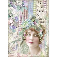 Stamperia Intl Lady, Hortensia Paper Sheet A4
