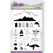 Jeannine's Art Clear stamps Spring Landscape Se -- 26-stamp Set