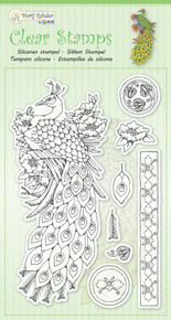JEJE MRJ Clear stamps Peacock - 9 Stamps 9.0055