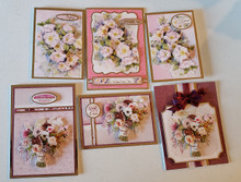 Live Stream Work Along Class Kit --Flourishing Florals Pink and Rosy Card Kit -- Makes 6 Cards