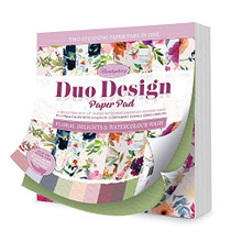 Hunkydory Crafts Duo Design Paper Pad - Floral Delights & Watercolour Wash