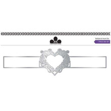 Craftwork Card Bellyband Heart Die Set