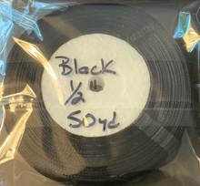 "Organza Ribbon 1/2"" BLACK 50-yards"
