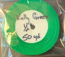 """Organza Ribbon 1/2"""" KELLY GREEN 50-yards"""