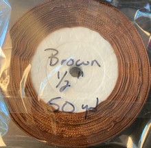"""Organza Ribbon 1/2"""" BROWN 50-yards"""