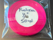 "Organza Ribbon 1/2"" FUCHSIA 50-yards"