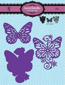 HOTP Hot Off the Press Layered Butterflies DIe Set 3-pieces