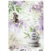 Jenine's Mindful Art Time To Relax Rice Paper Sheet A4 n.28