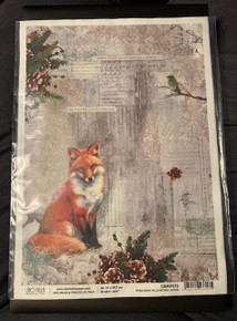 Ciao Bella Papercrafting Rice Paper When Snow Falls Nature Listens - Fox