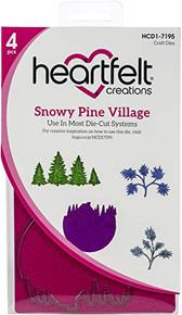 Heartfelt Creations Cut & Emboss Dies-Snowy Pine Village