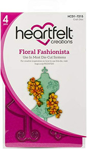 Heartfelt Creations Cut & Emboss Dies-floral Fashionista