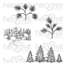 Heartfelt Creations Snowy Pine Villiage Cling Stamps