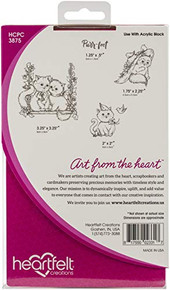 "Heartfelt Creations Cling Rubber Stamp Set-Purr-FECT Playdate .5"" to 3.5"""