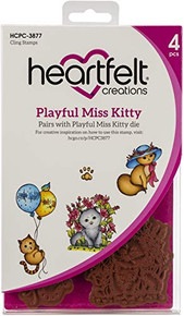 "Heartfelt Creations Cling Rubber Stamp Set-Playful Miss Kitty .75"" to 4.25"""