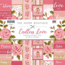 "The Paper Boutique- Endless Love 8""x8"" Embellishment Pad"