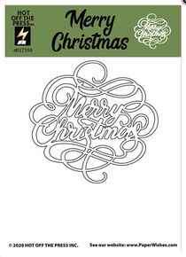 HOTP Hot Off the Press Merry Christmas Stamp