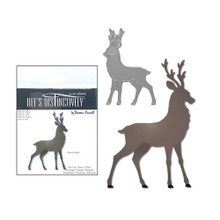 Dee's Distinctively Die Cut Stag Deer 2.42x3.56-in