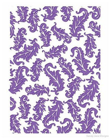 Couture Creations A2 Embossing Folder, Tickle Me Feathers