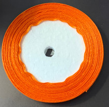 "25 yd Satin Ribbon 2/5"" ORANGE Approx. 25-yards"