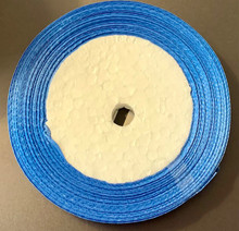 "25 yd Satin Ribbon 2/5"" BLUE Approx. 25-yards"