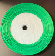 "25 yd Satin Ribbon 2/5"" GRASS GREEN Approx. 25-yards"