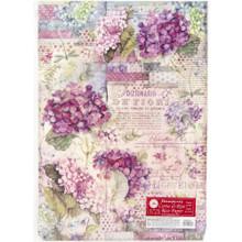 STAMPERIA INTERNATIONAL, A3 Rice Paper Hortensia DFSA3061