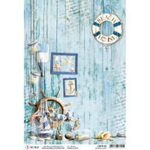 Ciao Bella Paper crafting Rice Paper Coastal Living CBRP109