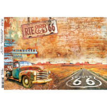 Ciao Bella Paper crafting Rice Paper Route 66 - cbrp071