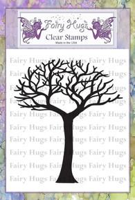 Fairy Hugs Stamp - Skinny Bare Tree Short