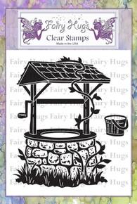 Fairy Hugs Stamp - Wishing well