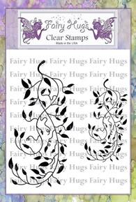 Fairy Hugs Stamp -Leafy Scrolls