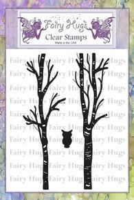 Fairy Hugs Stamp -Birch Tree Set