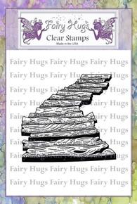 Fairy Hugs Stamp -Wooden Walkway