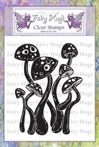 Fairy Hugs Stamp - Dancing Mushrooms