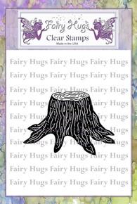 Fairy Hugs Stamp - Tree Stump