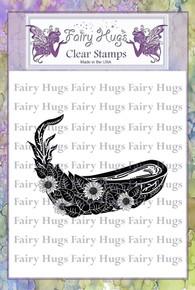 Fairy Hugs Stamp -Leafy Canoe
