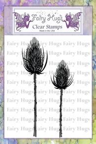 Fairy Hugs Stamp -Black Thistles