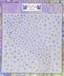 "Fairy Hugs 6x6"" STENCIL --GALAXY"