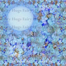 "Fairy Hugs 6x6"" Background Papers --BLUE LAGOON"