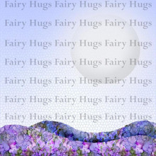 "Fairy Hugs 6x6"" Background Papers --MOON LIGHT"