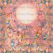 "Fairy Hugs 6x6"" Background Papers -- BUBBLE GUM"