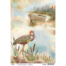 Ciao Bella Paper crafting Rice Paper Heron Delta CBRP154